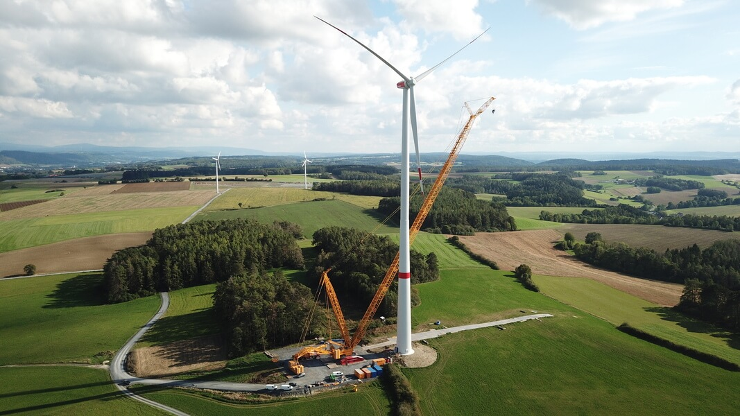 Raupenkran Windkraft